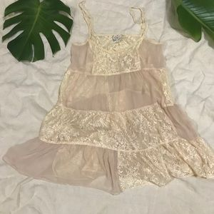 Free people lace dress tan xs